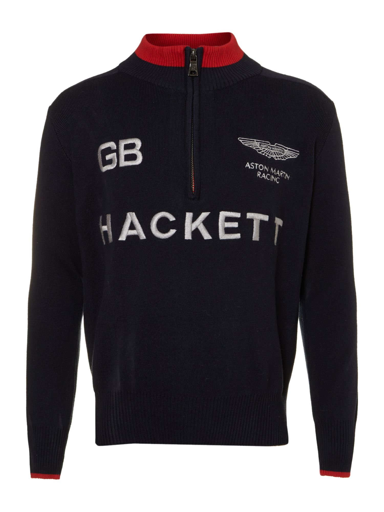 Boy`s Aston Martin zip neck jumper