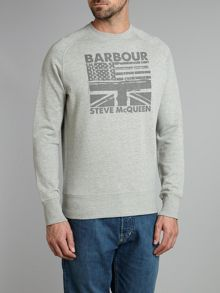 Barbour Flag crew sweat