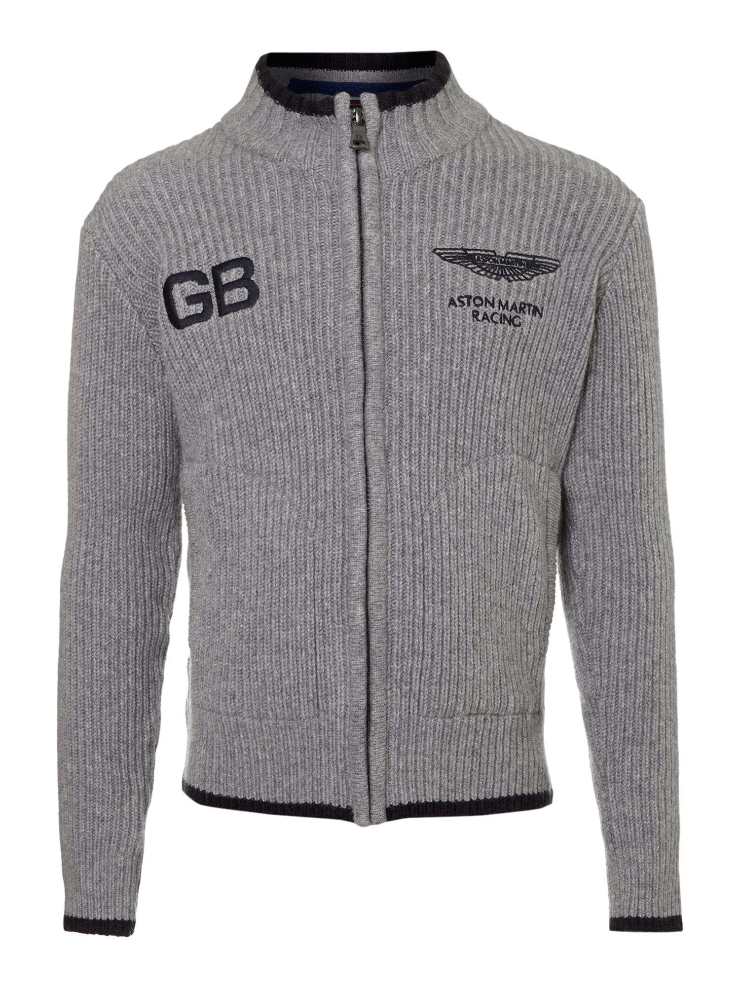 Boy`s Aston Martin zip-thru jumper