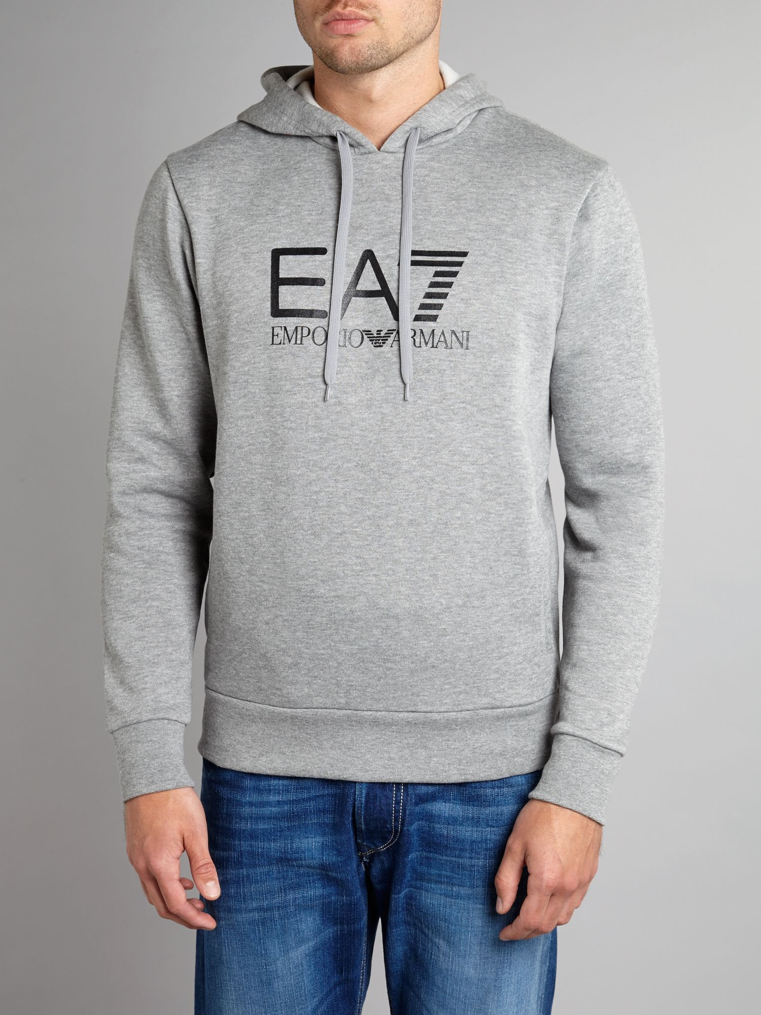 Big logo hooded sweat