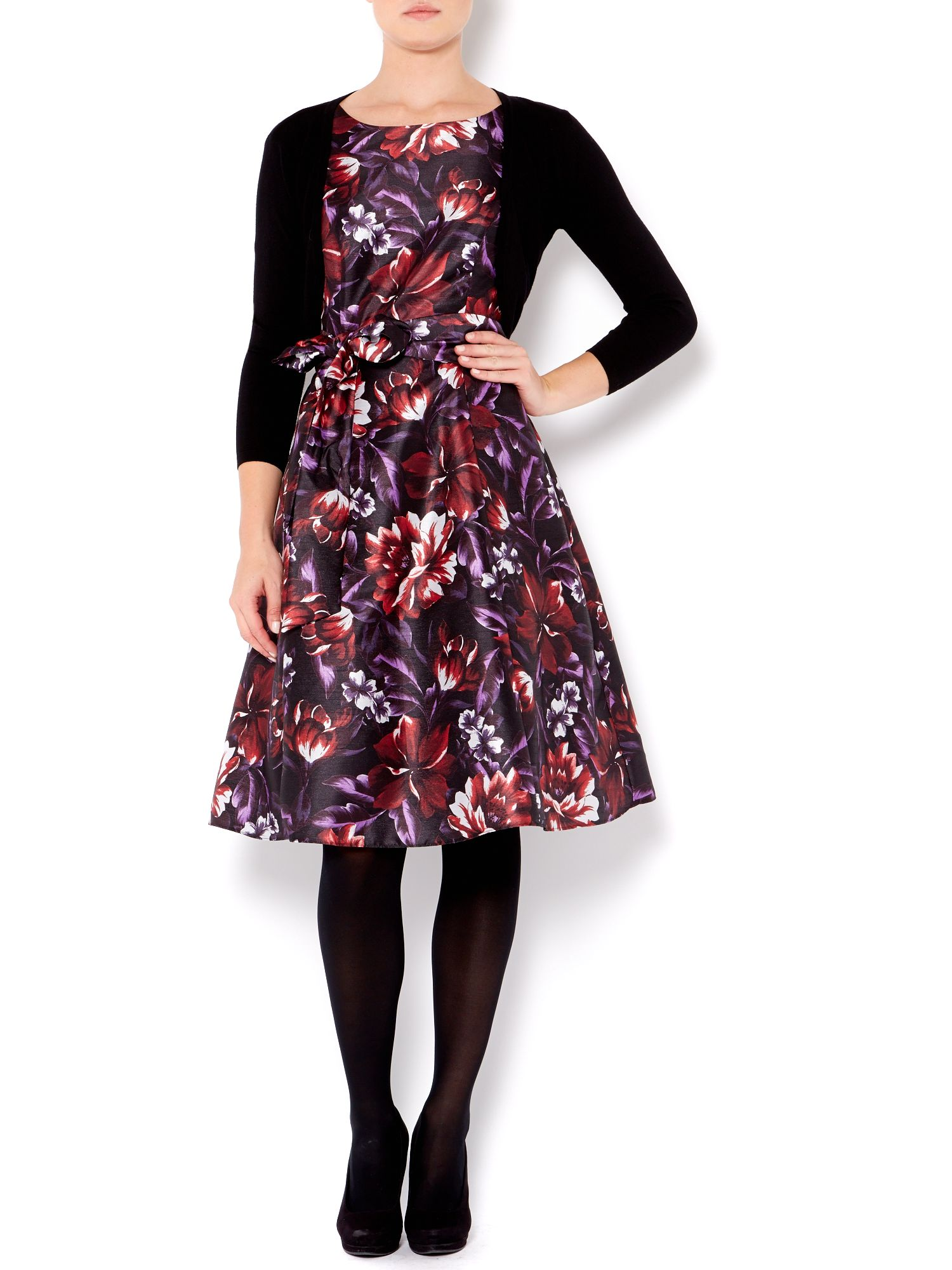 Lilly flare dress with shrug