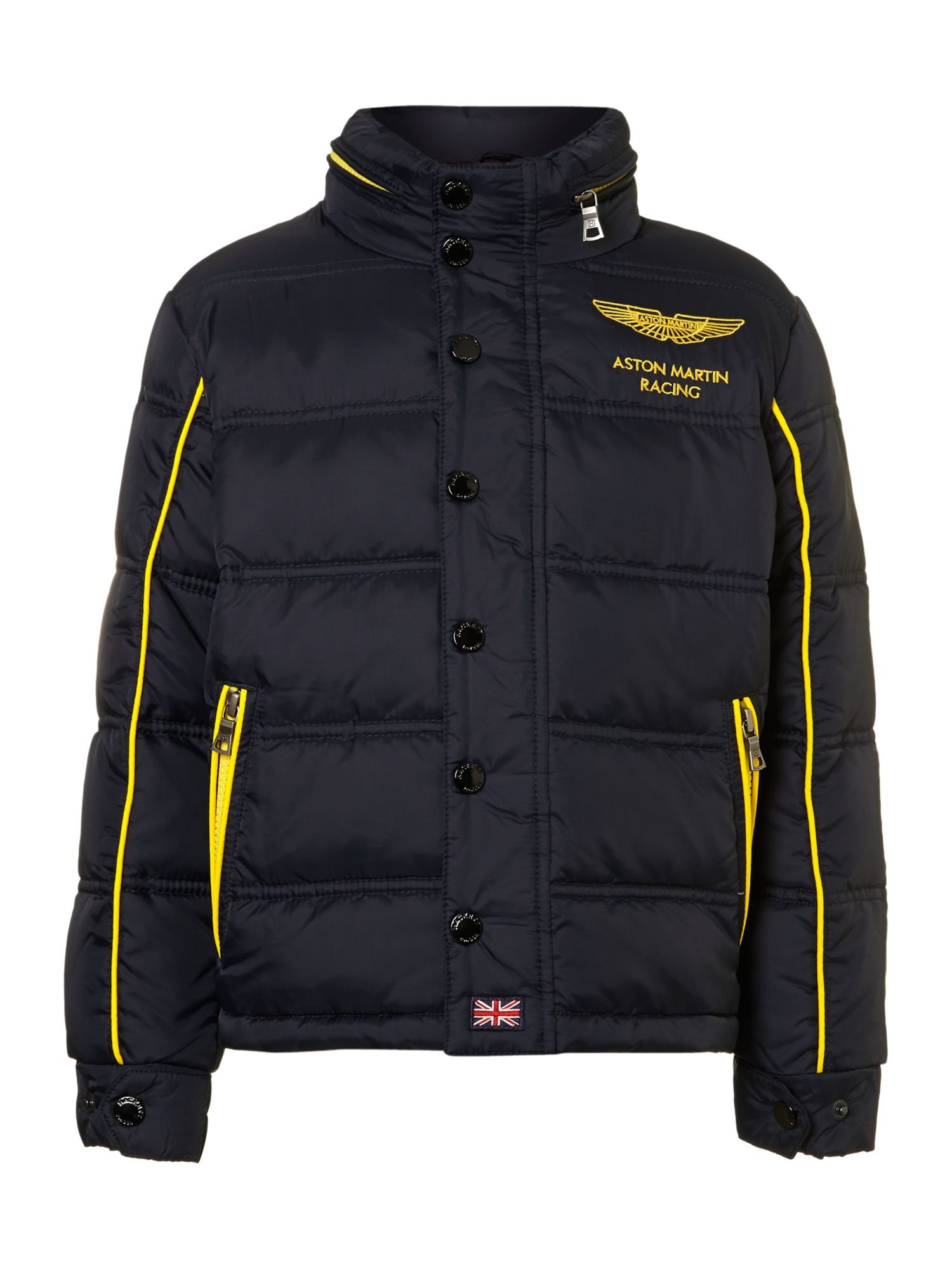 Boy`s padded Aston Martin coat