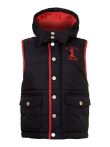 Boy`s hooded gilet