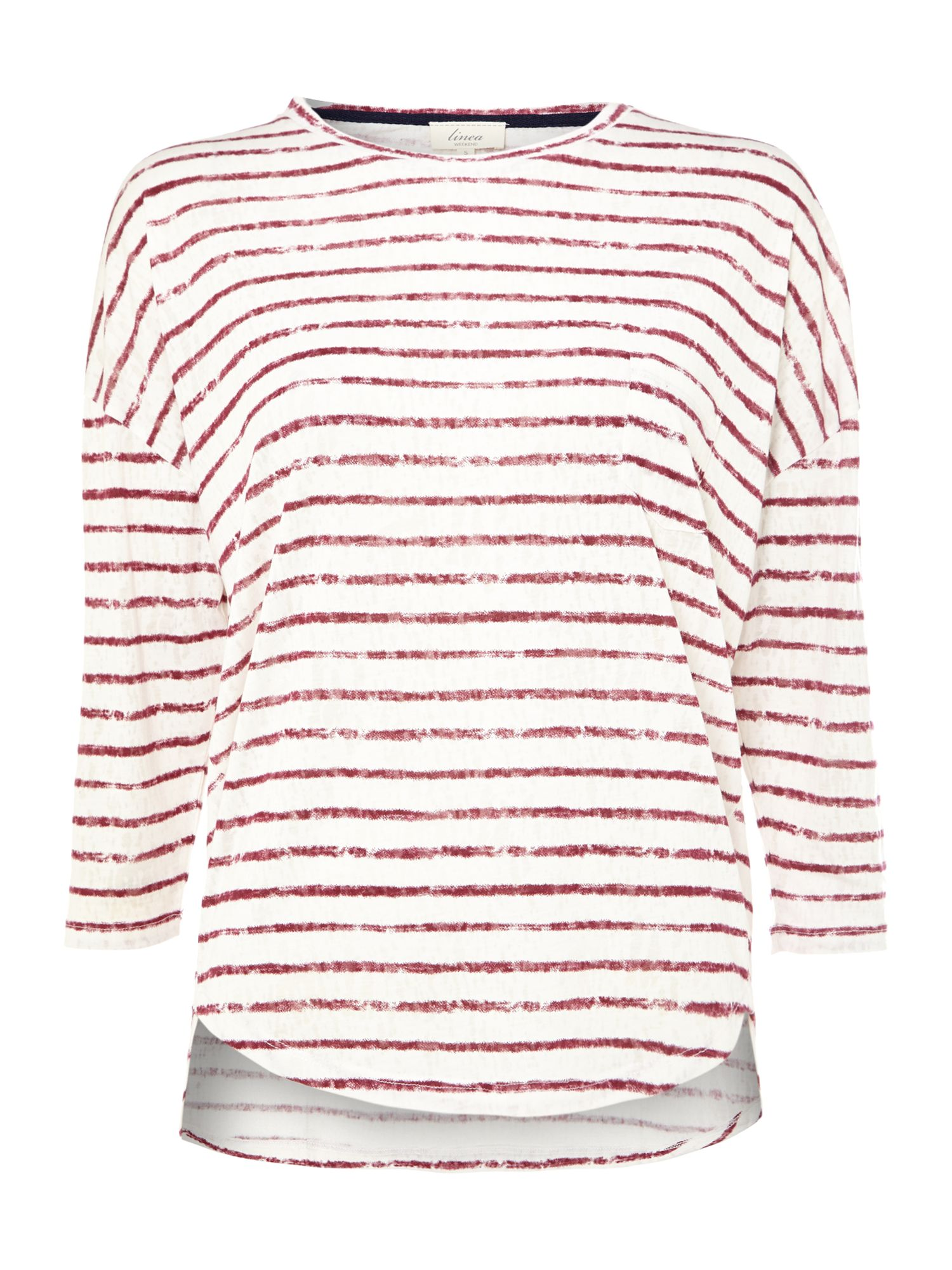 Burnout stripe top