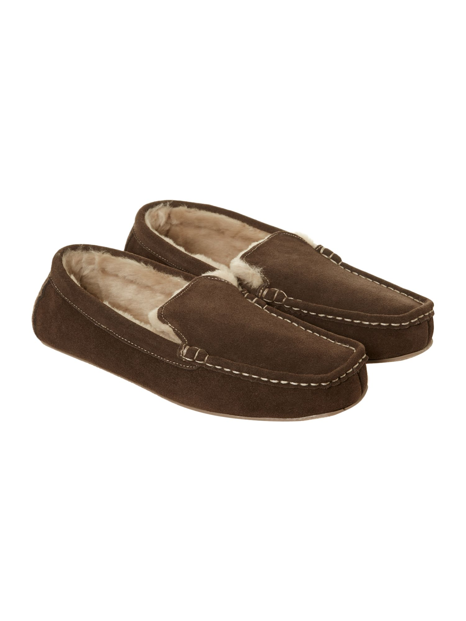 Chocolate suede moccasin