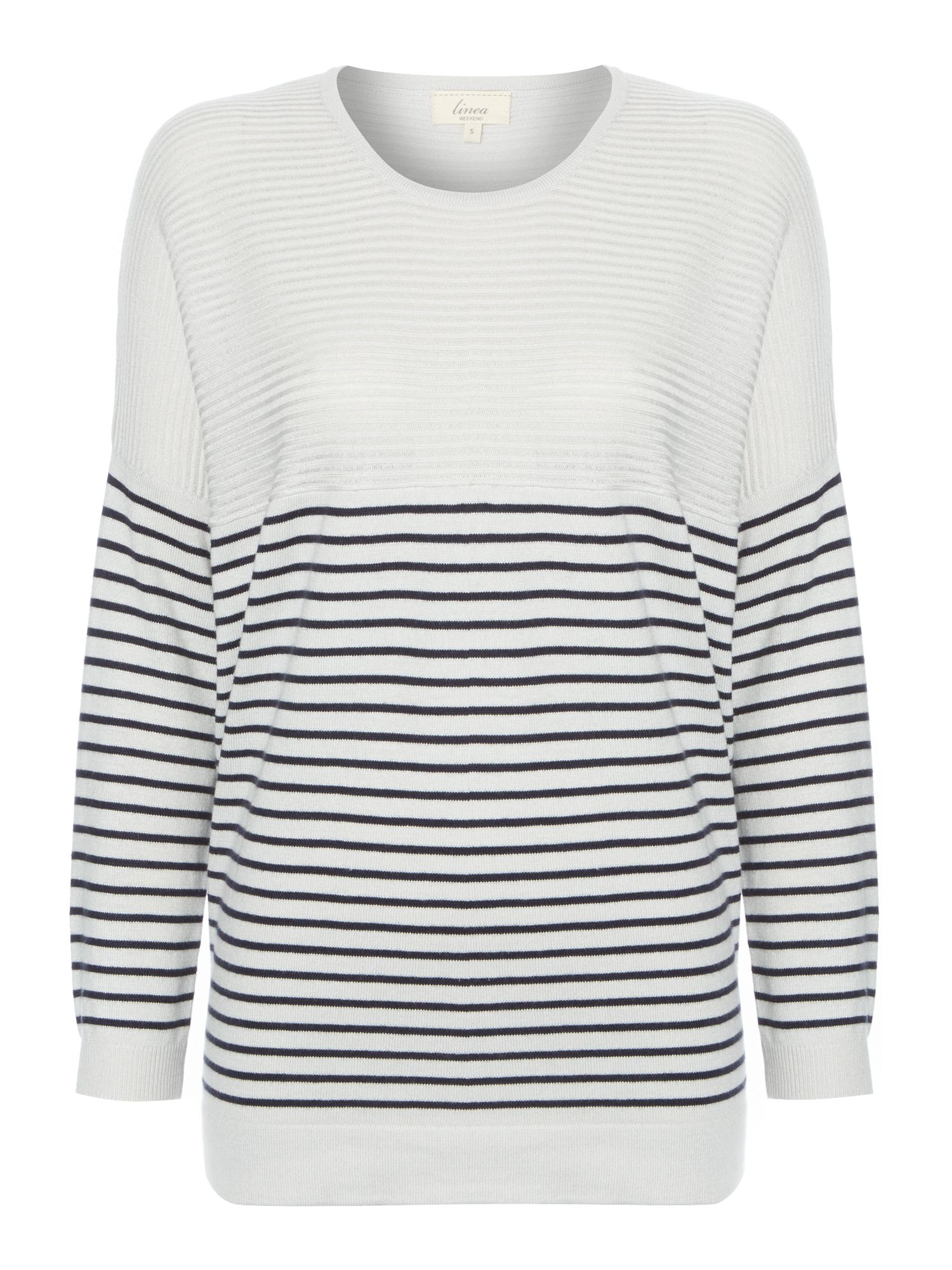 Oversize stripe knit jumper