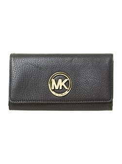 Michael Kors Fulton large black flapover purse