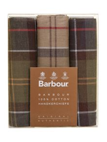 Barbour Boxed set of handkerchiefs