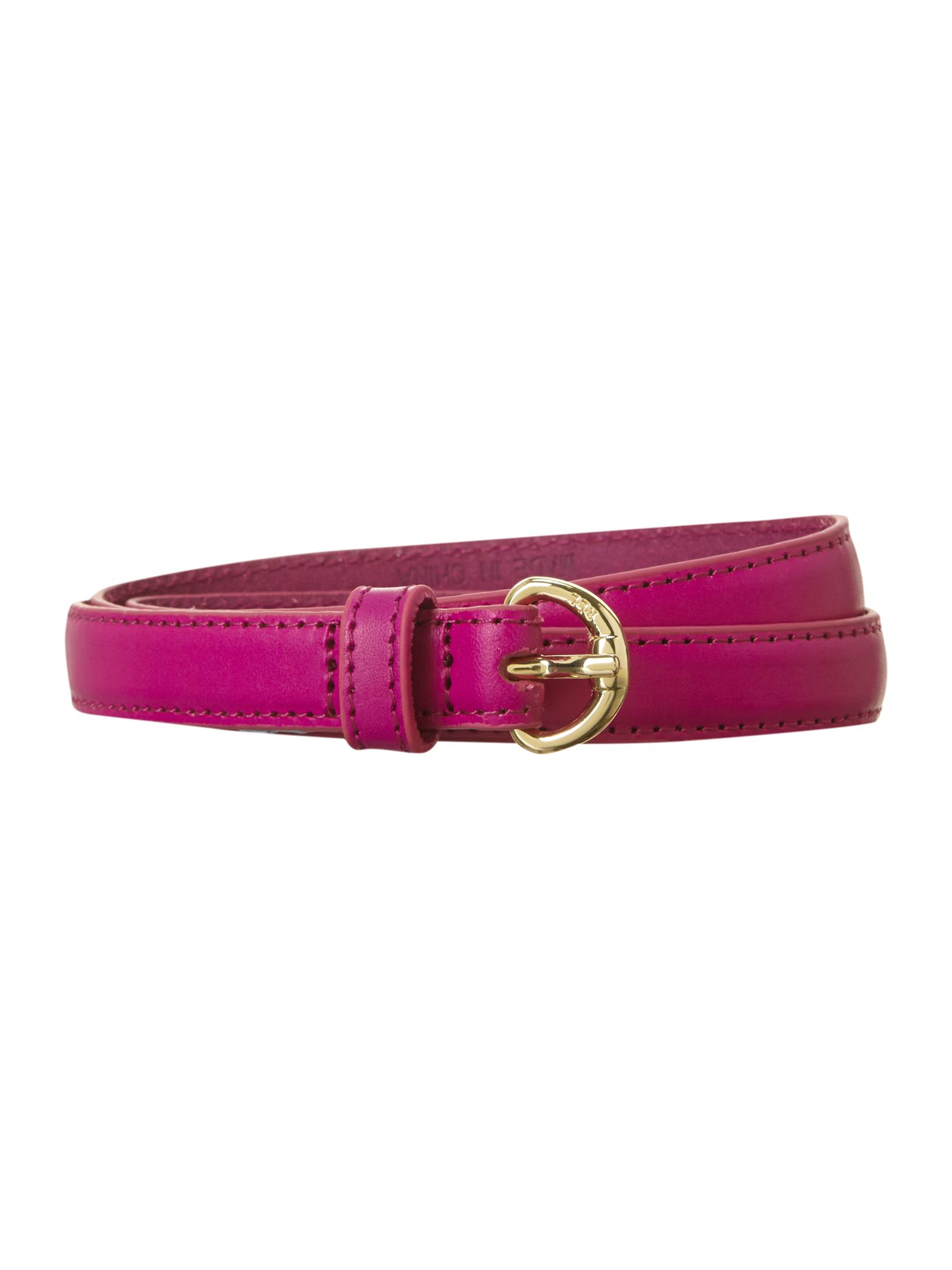 Thin belt with buckle