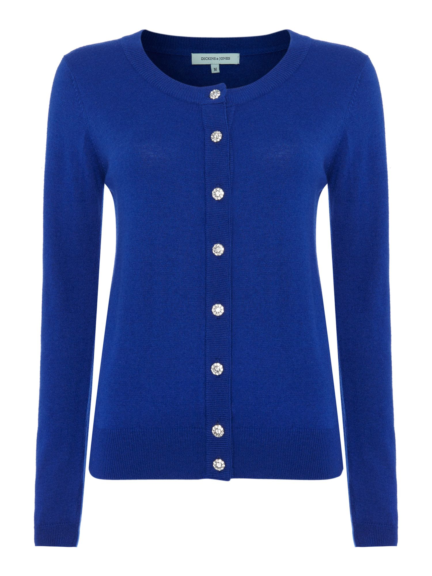 Ladies knitted button front cardigan