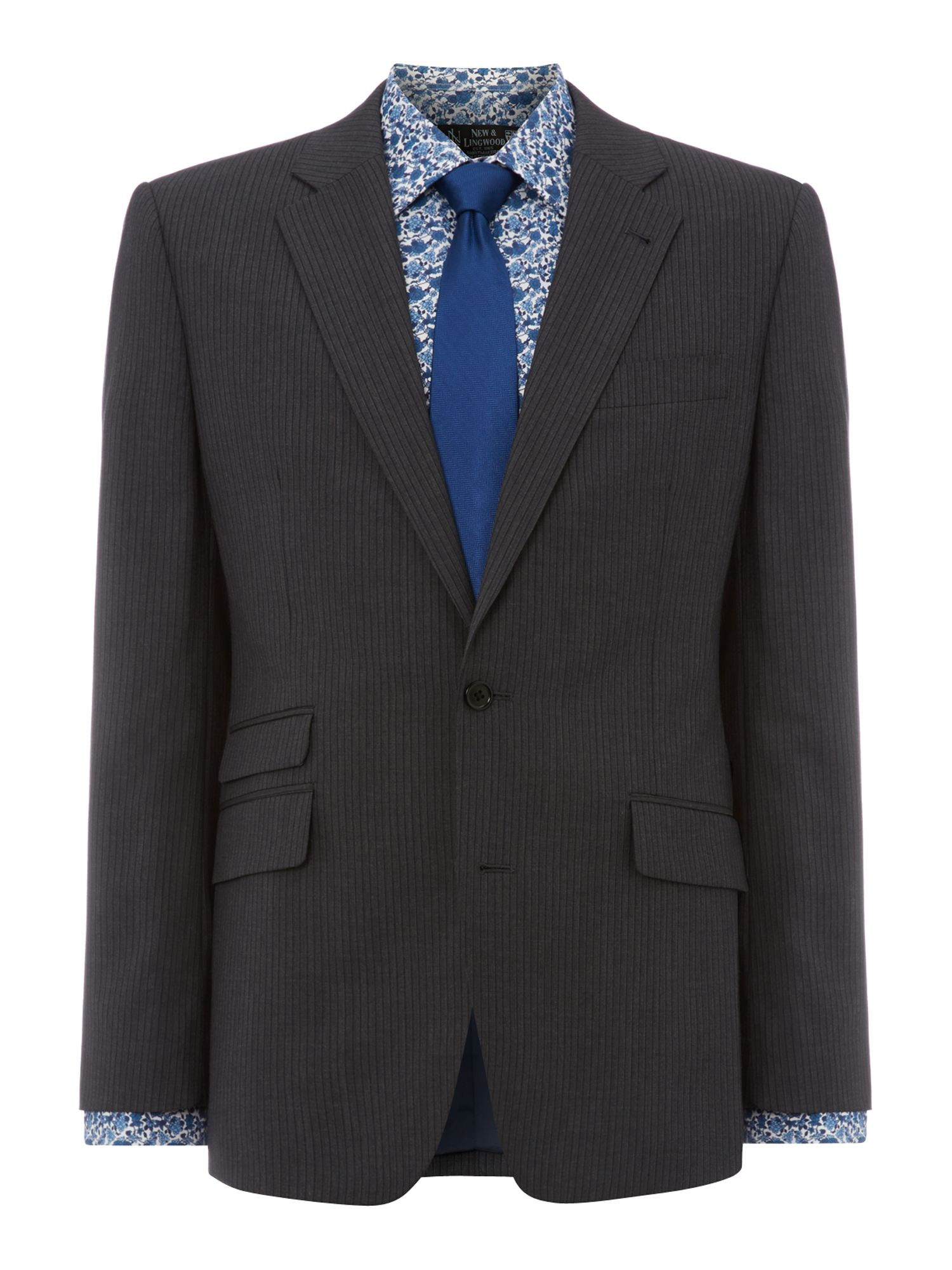 Ive two colour stripe suit jacket
