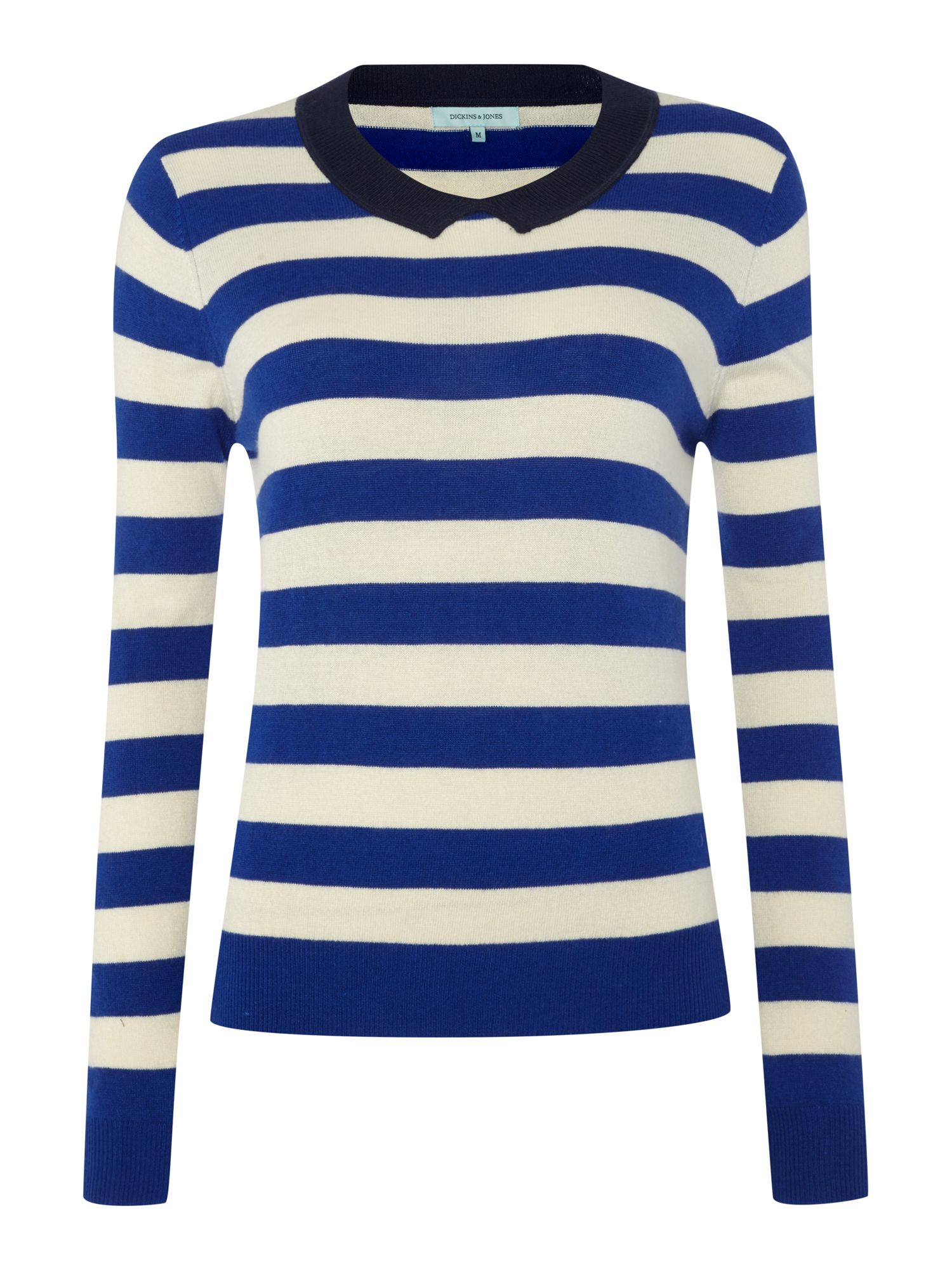 Ladies stripe collar jumper