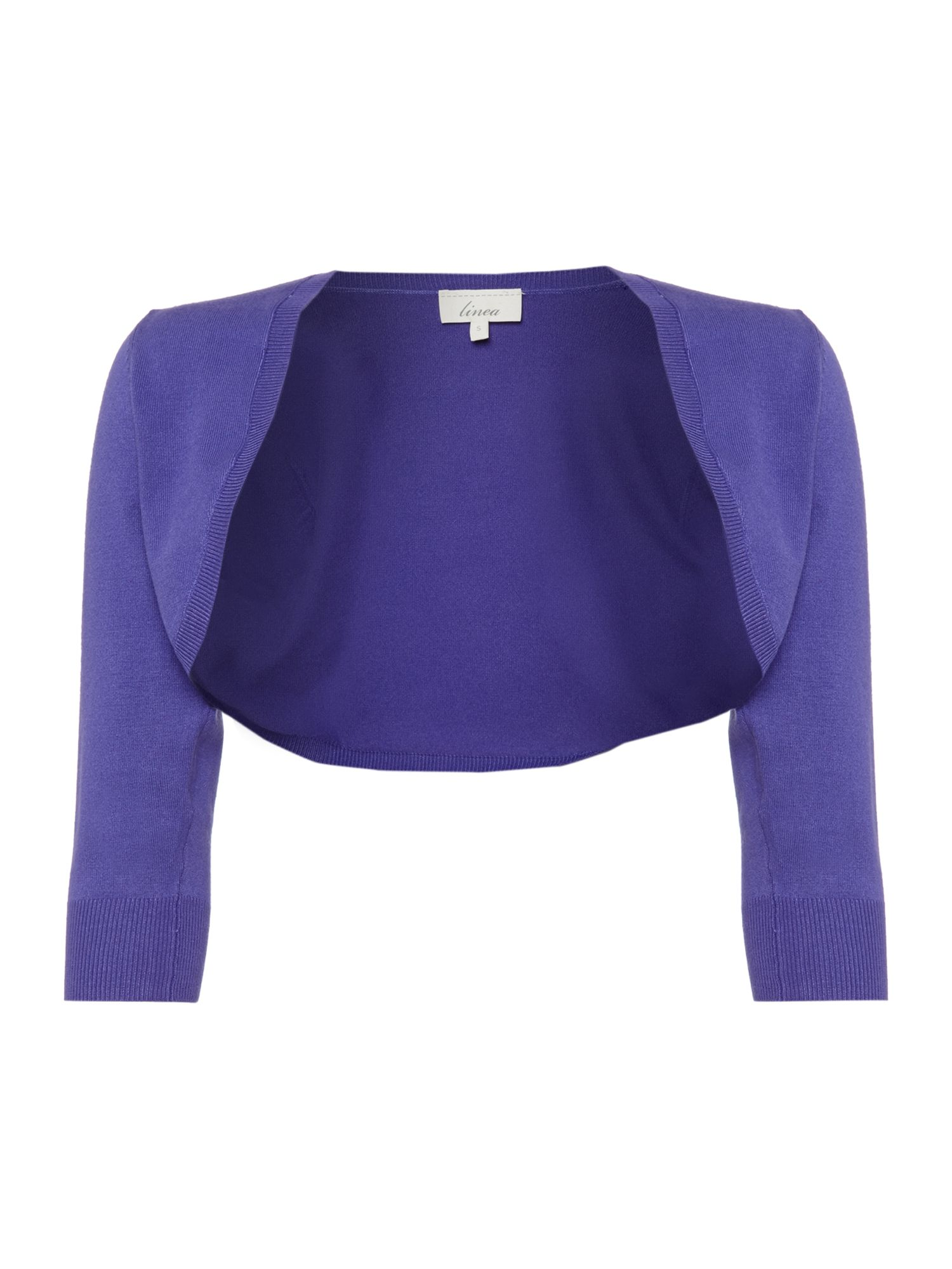 Essential shrug 3/4 sleeve