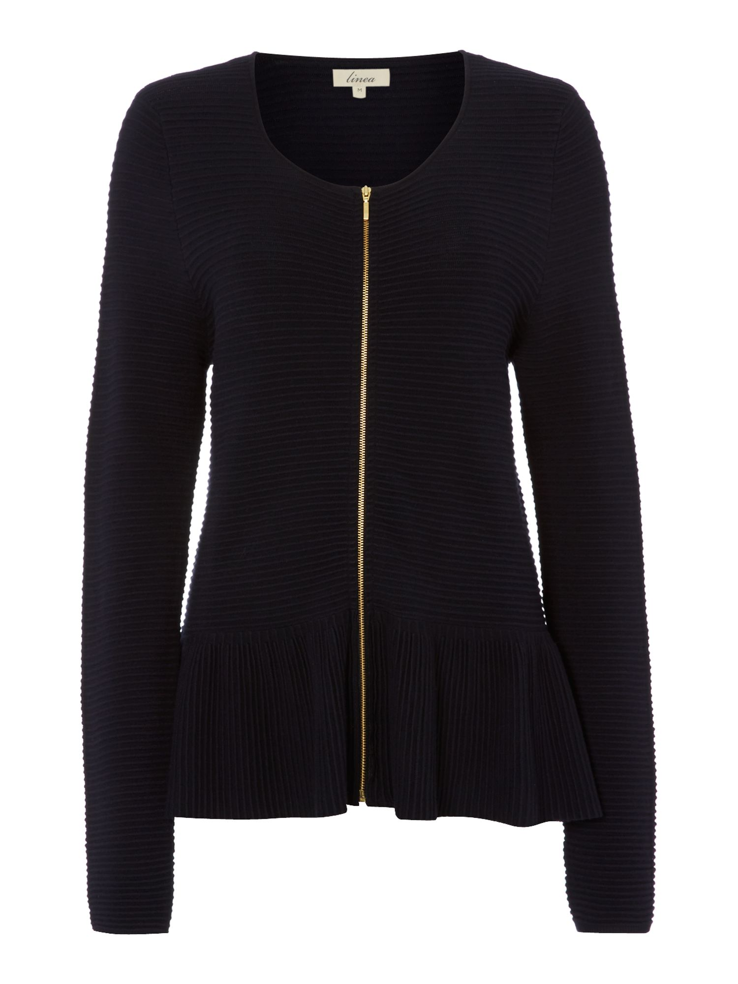 Ribbed zip detail jacket
