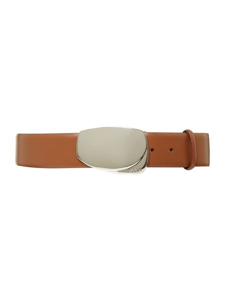 Lauren Ralph Lauren Cowhide belt with deco buckle