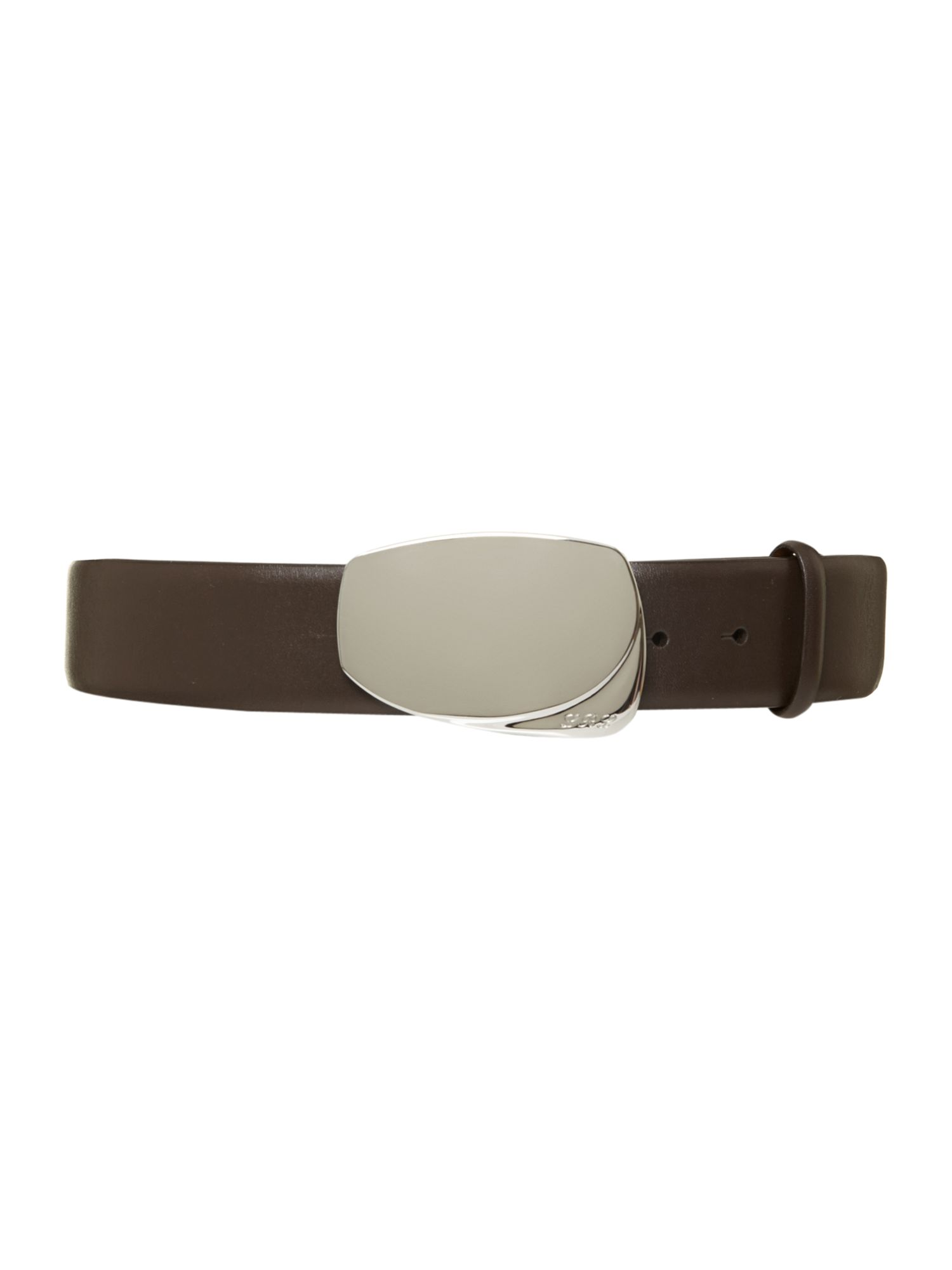Cowhide belt with deco buckle