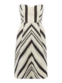 Untold Chevron ribbon fit anf flare dress
