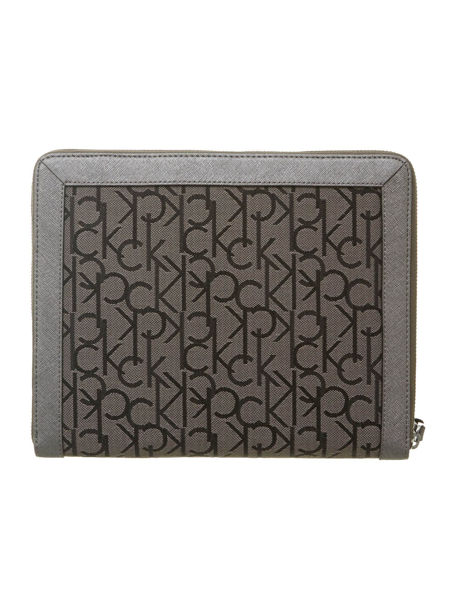 Jaquard logo metallic ipad case
