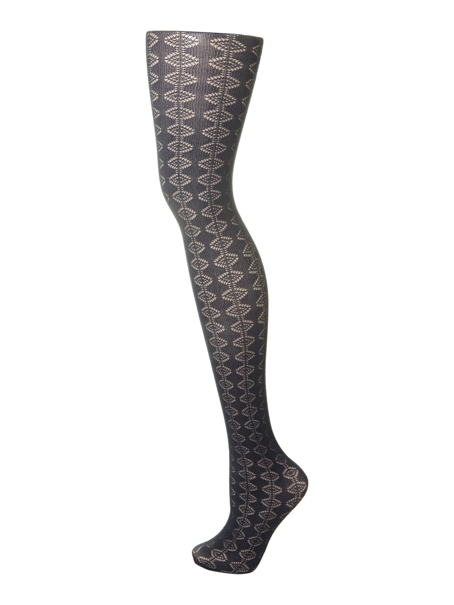 Diamond stripe tights