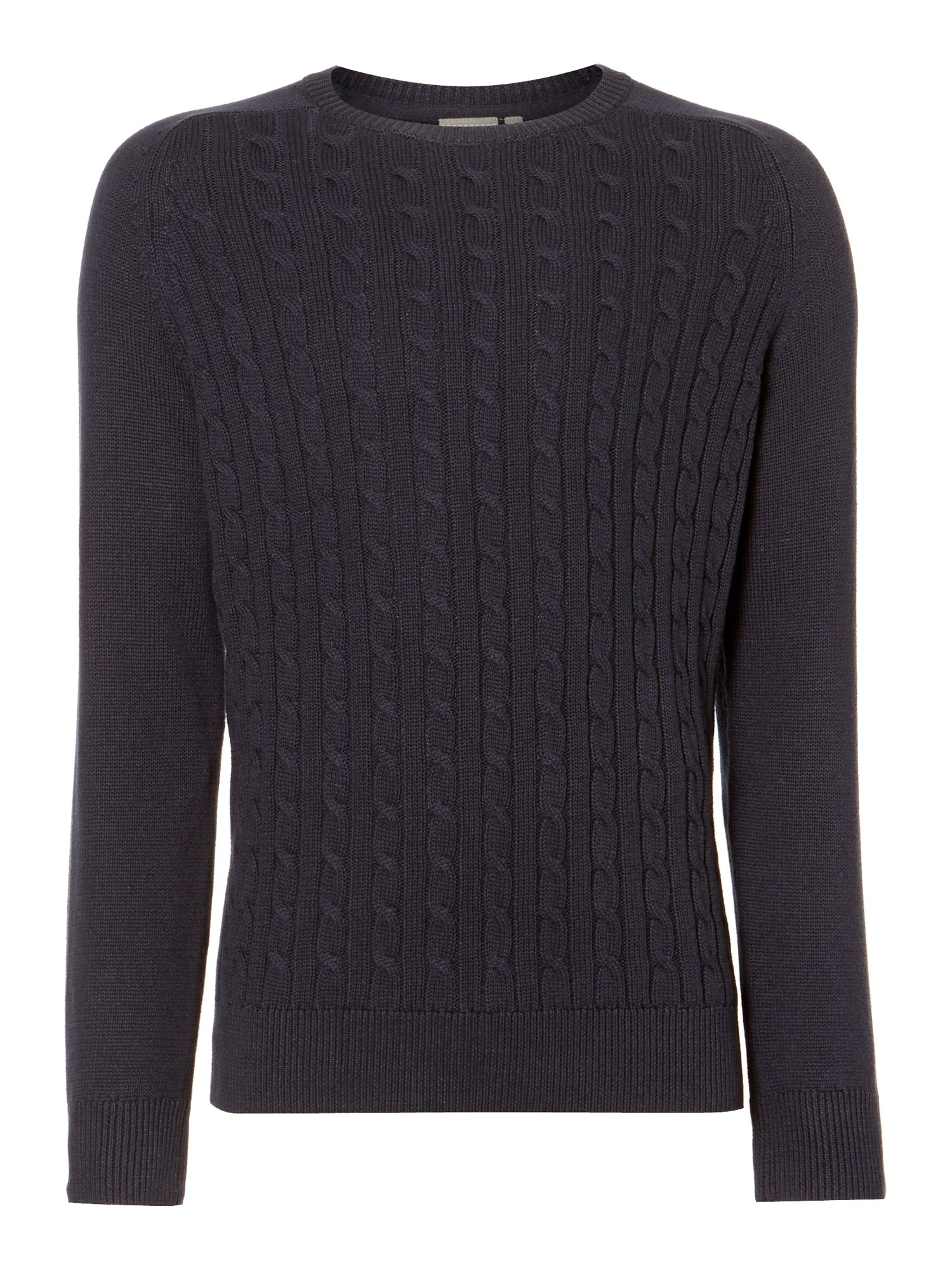 carven cable crew neck knit
