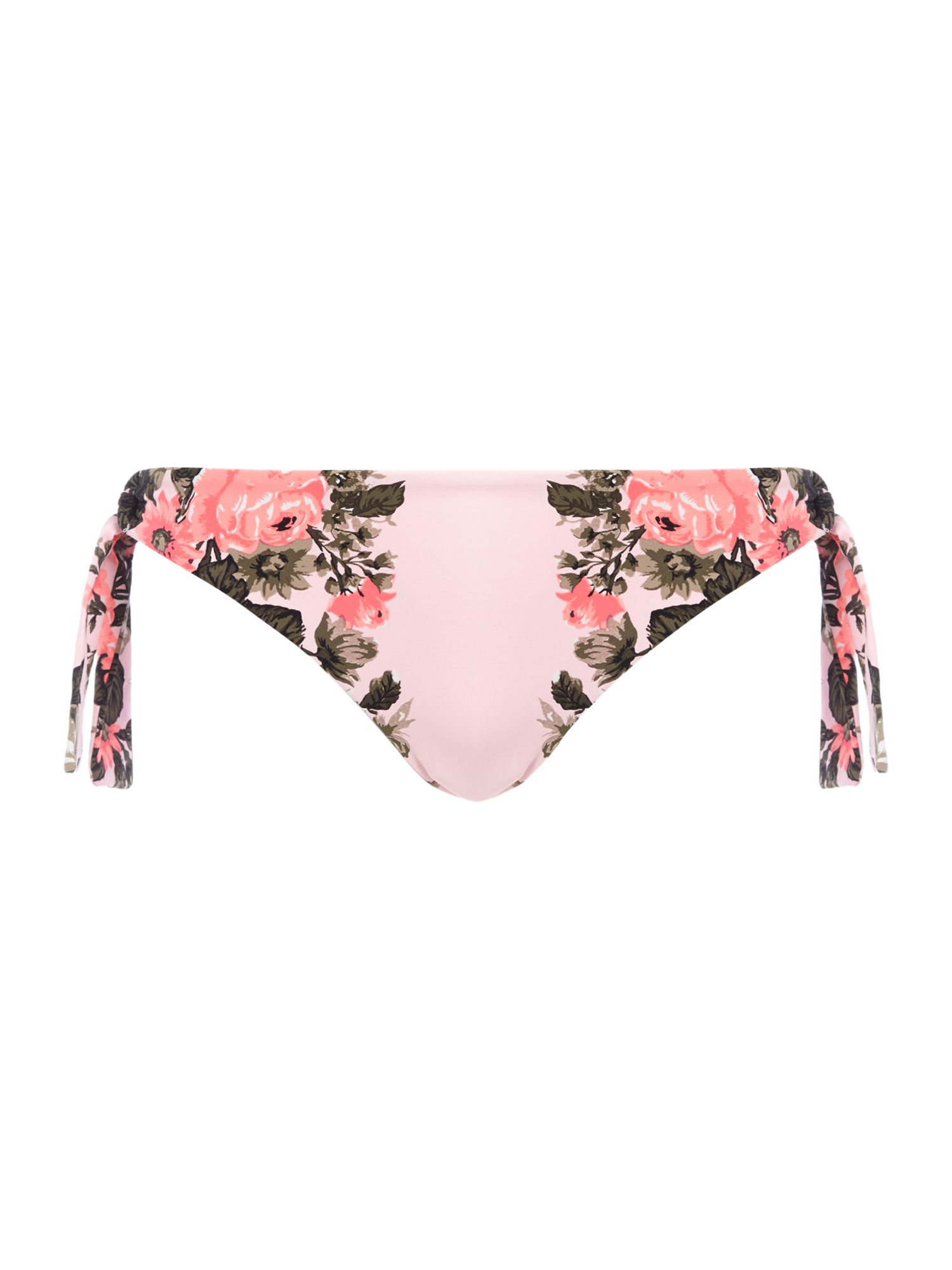 Bella rose tie side brief