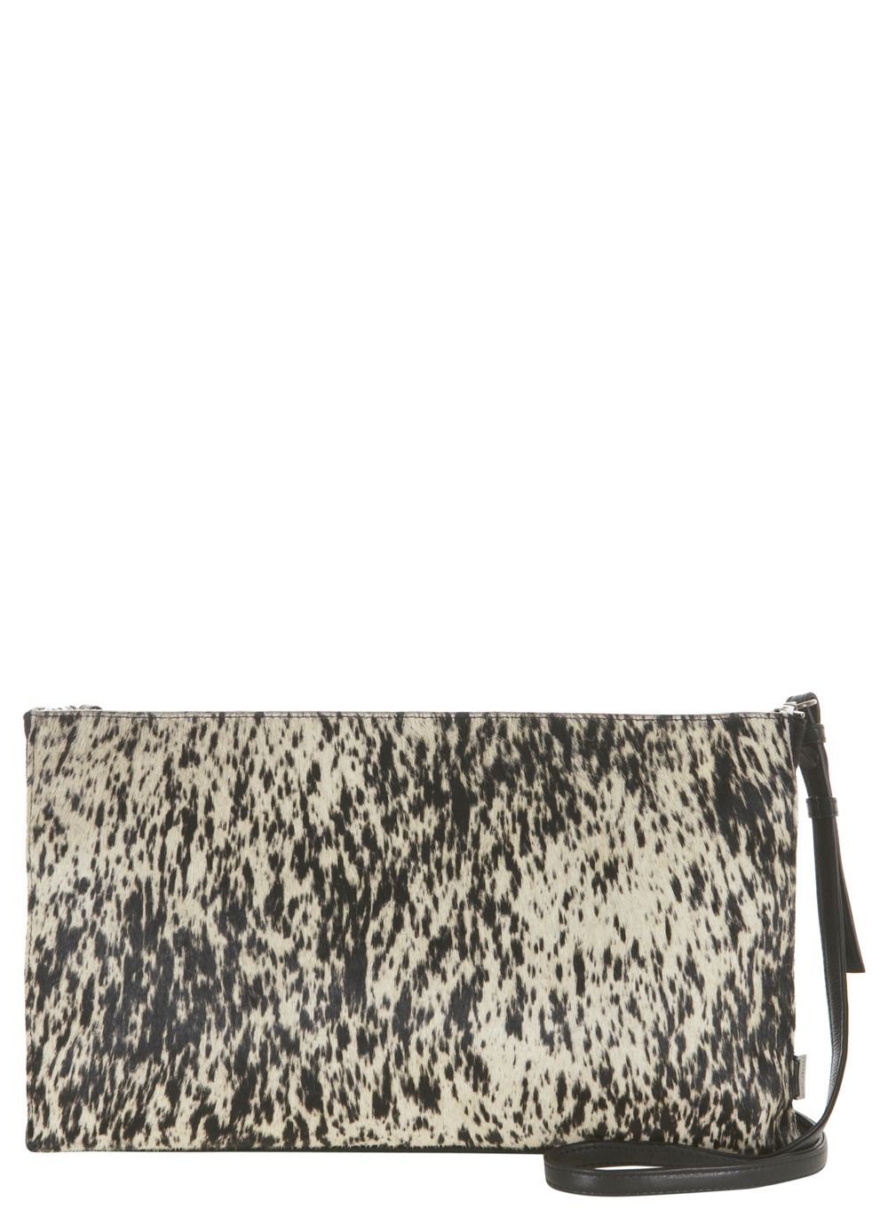 Black ponyskin clutch
