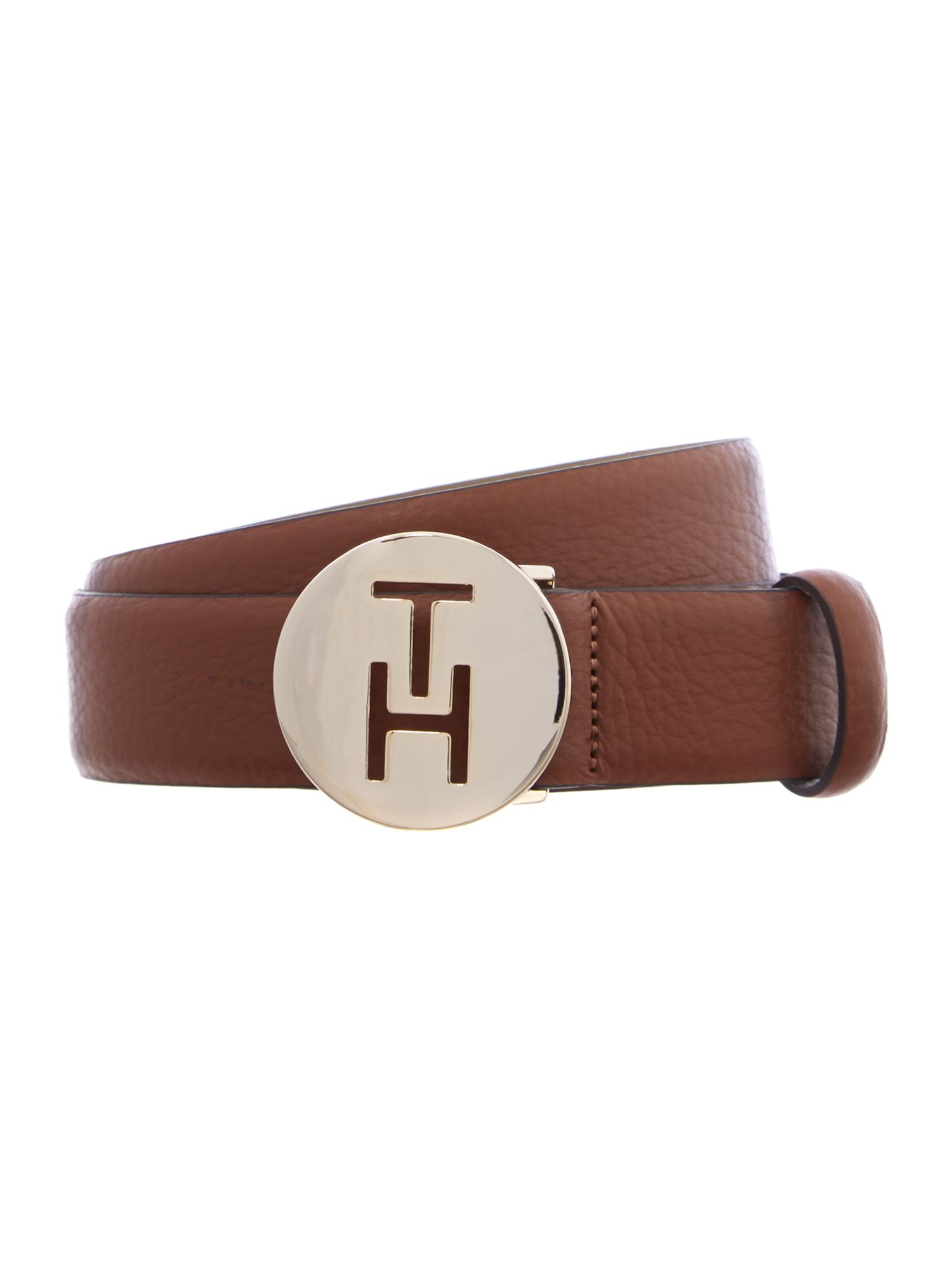 Dotsy brown skinny waist belt