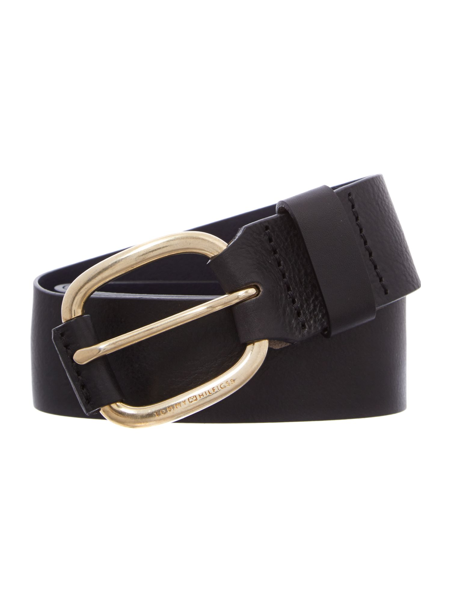 Whitney black jeans belt