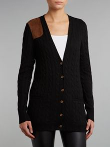 Knit cardigan with shoulder detail