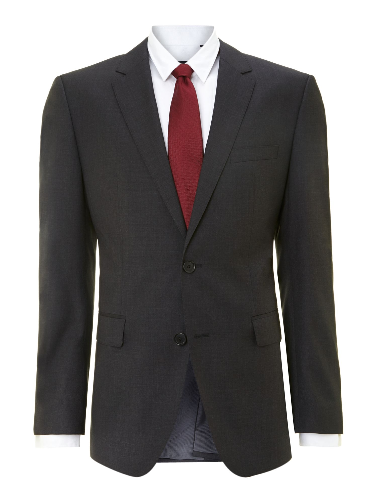 Men&39s Hugo Boss The Rider regular fit suit jacket Charcoal