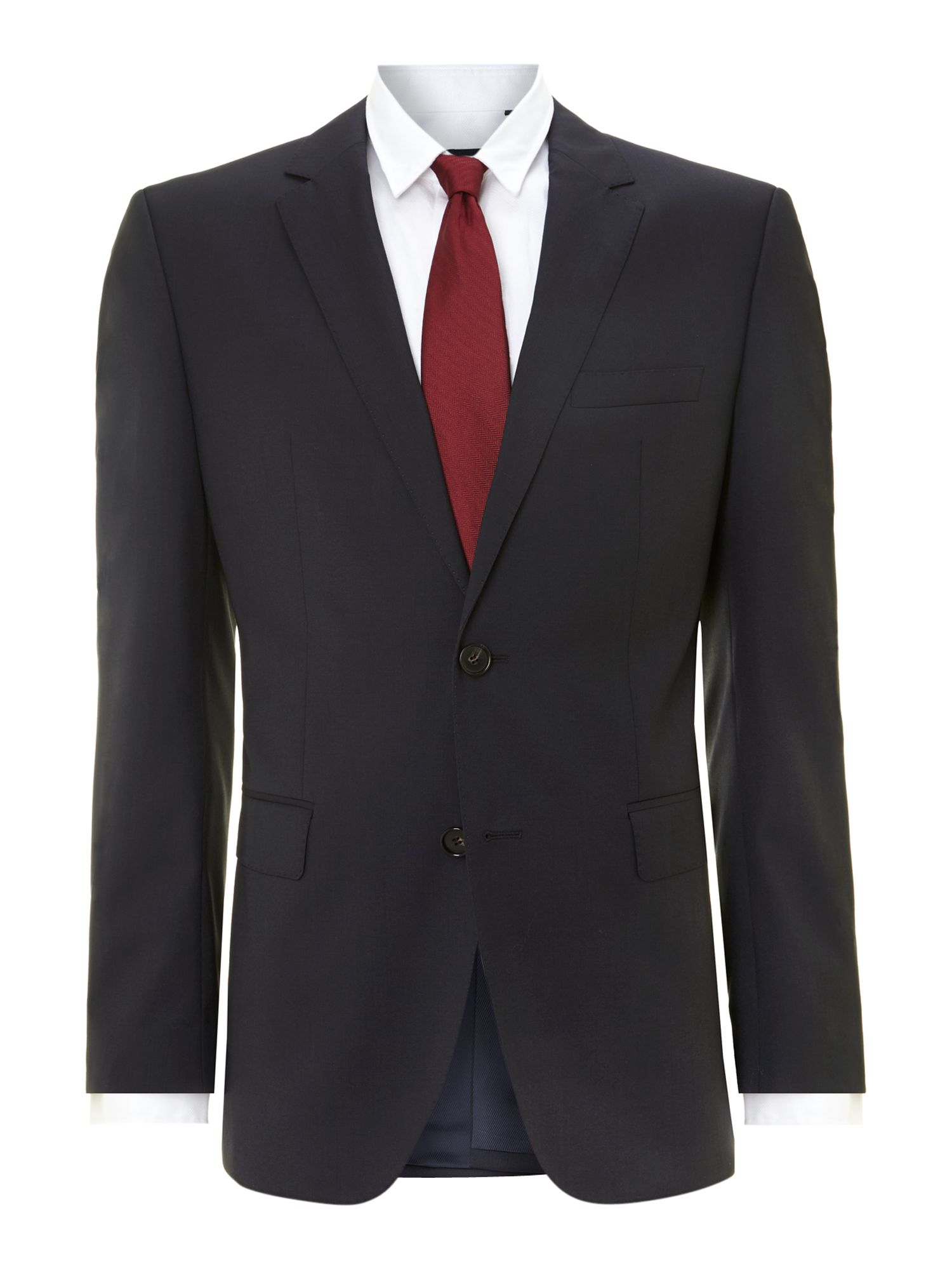 Mens Hugo Boss The Rider regular fit suit jacket Navy