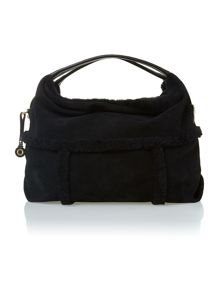 Black quinn hobo bag