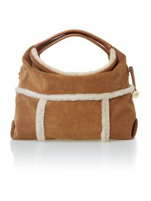 Brown quinn hobo bag