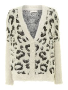 Noisy May Lion print cardigan