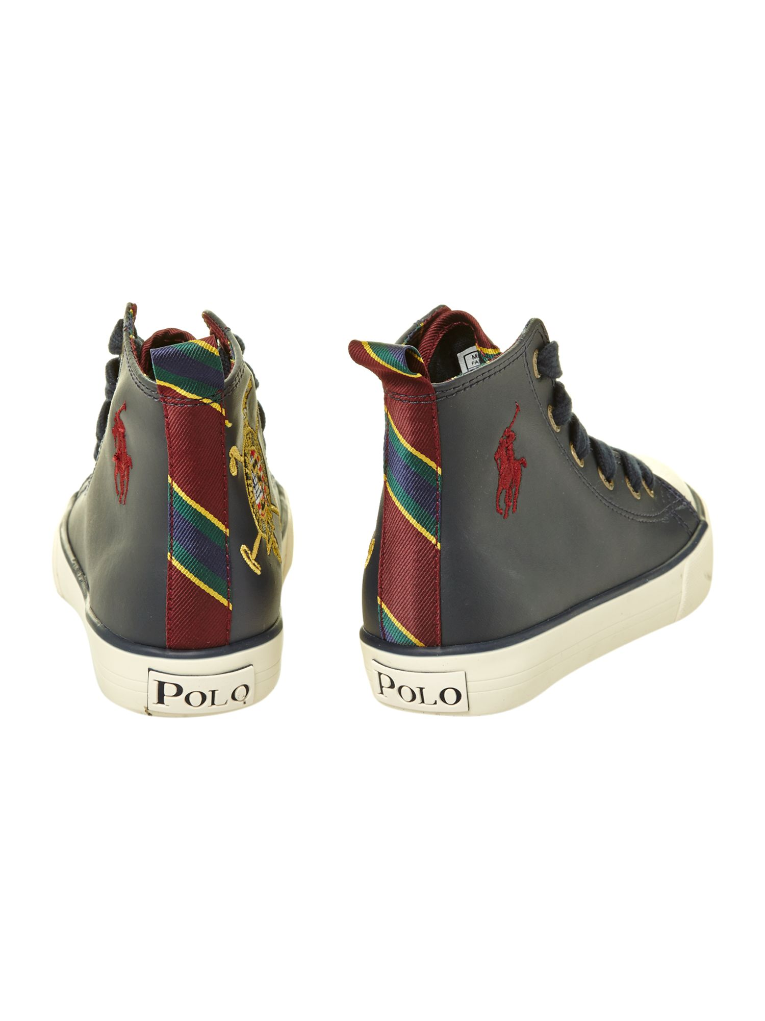 Boy`s leather high top plimsole