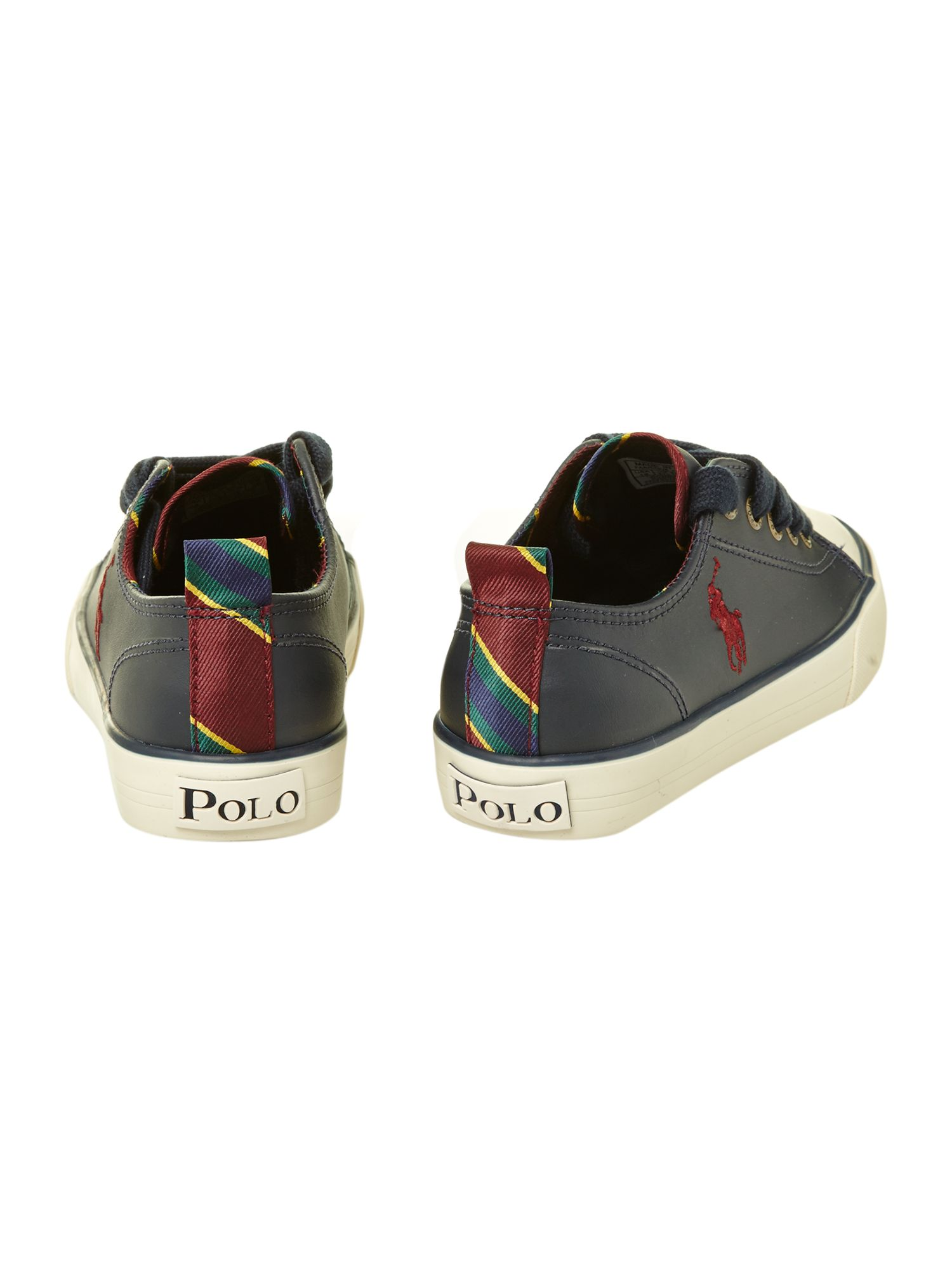 Boy`s leather low top plimsole
