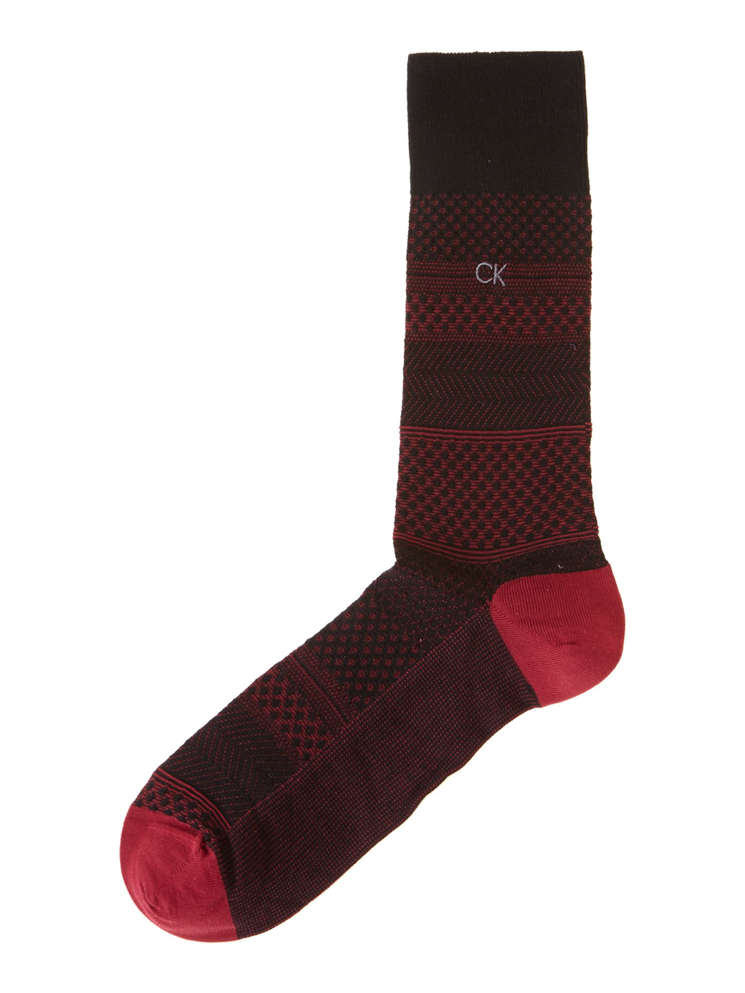 Textured jaquard sock