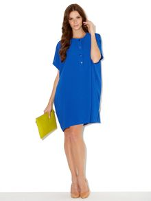 Placket front no brainer dress
