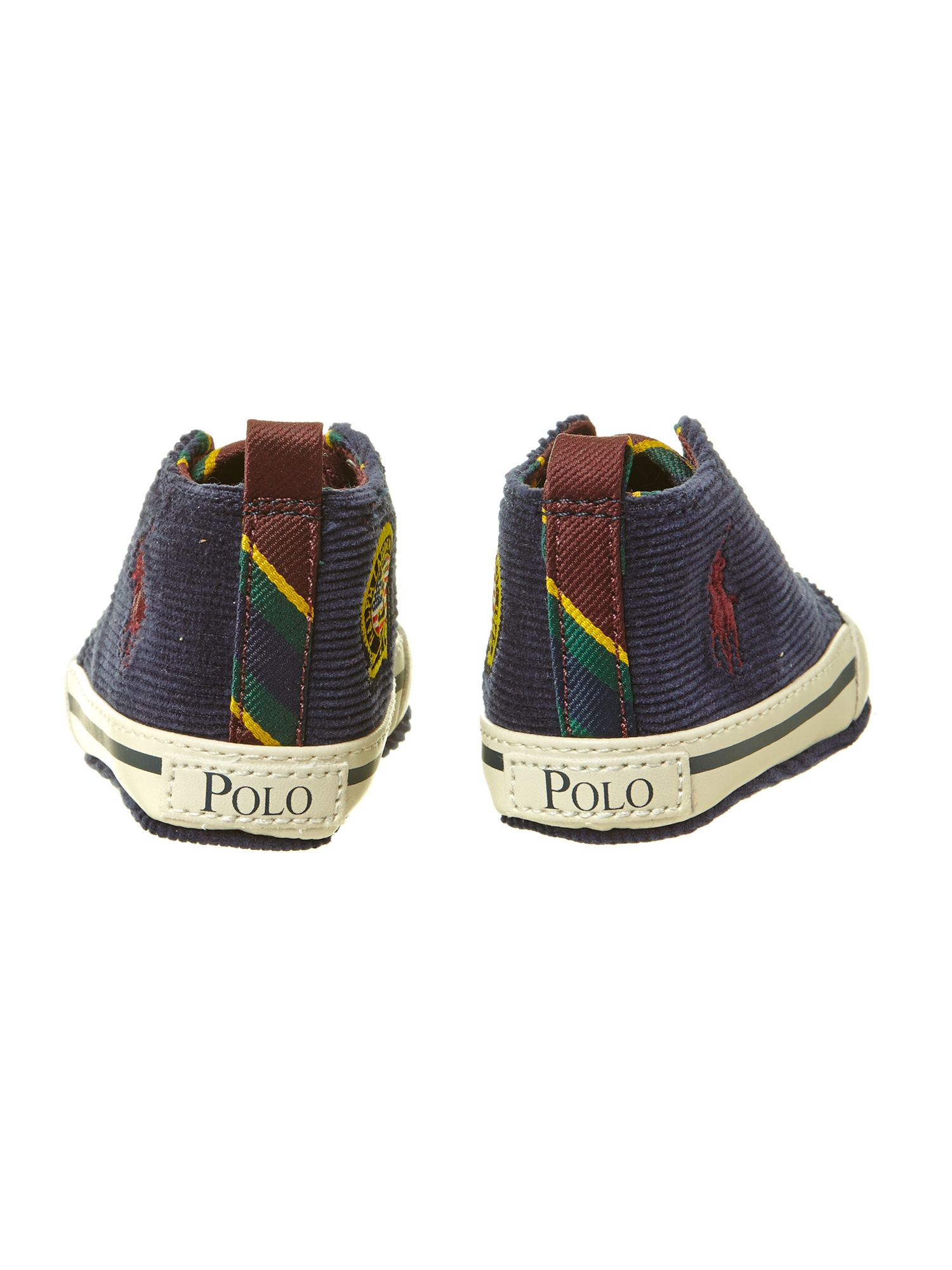 Boy`s cord high top trainer