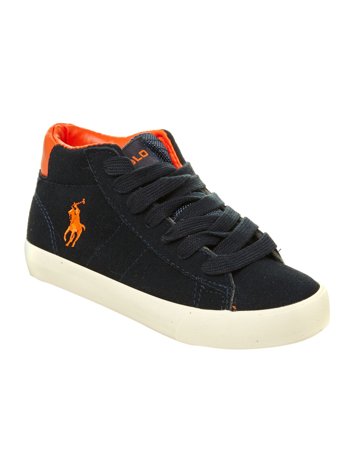 Boy`s leather low top trainers