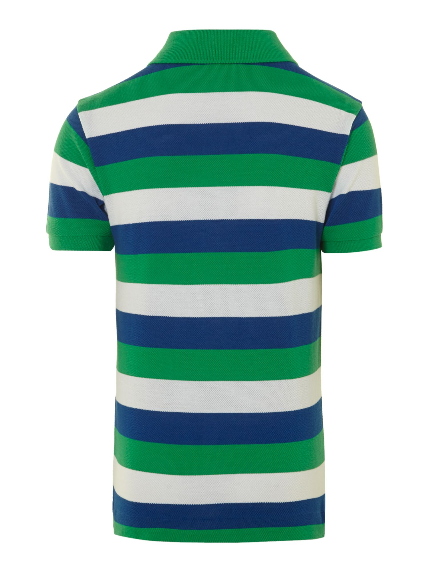 Boy`s short-sleeved stripe polo
