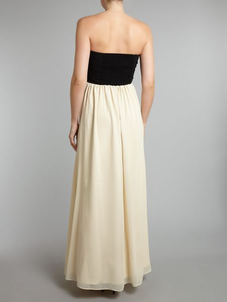 Little Mistress Embellished top maxi dress