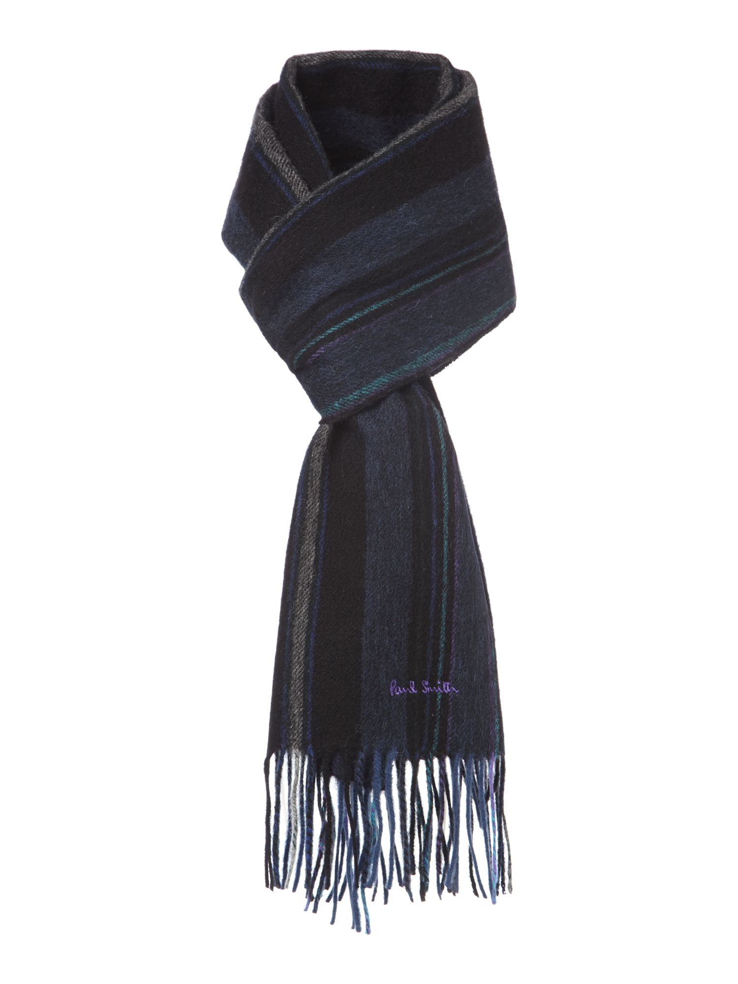 Wool college stripe scarf