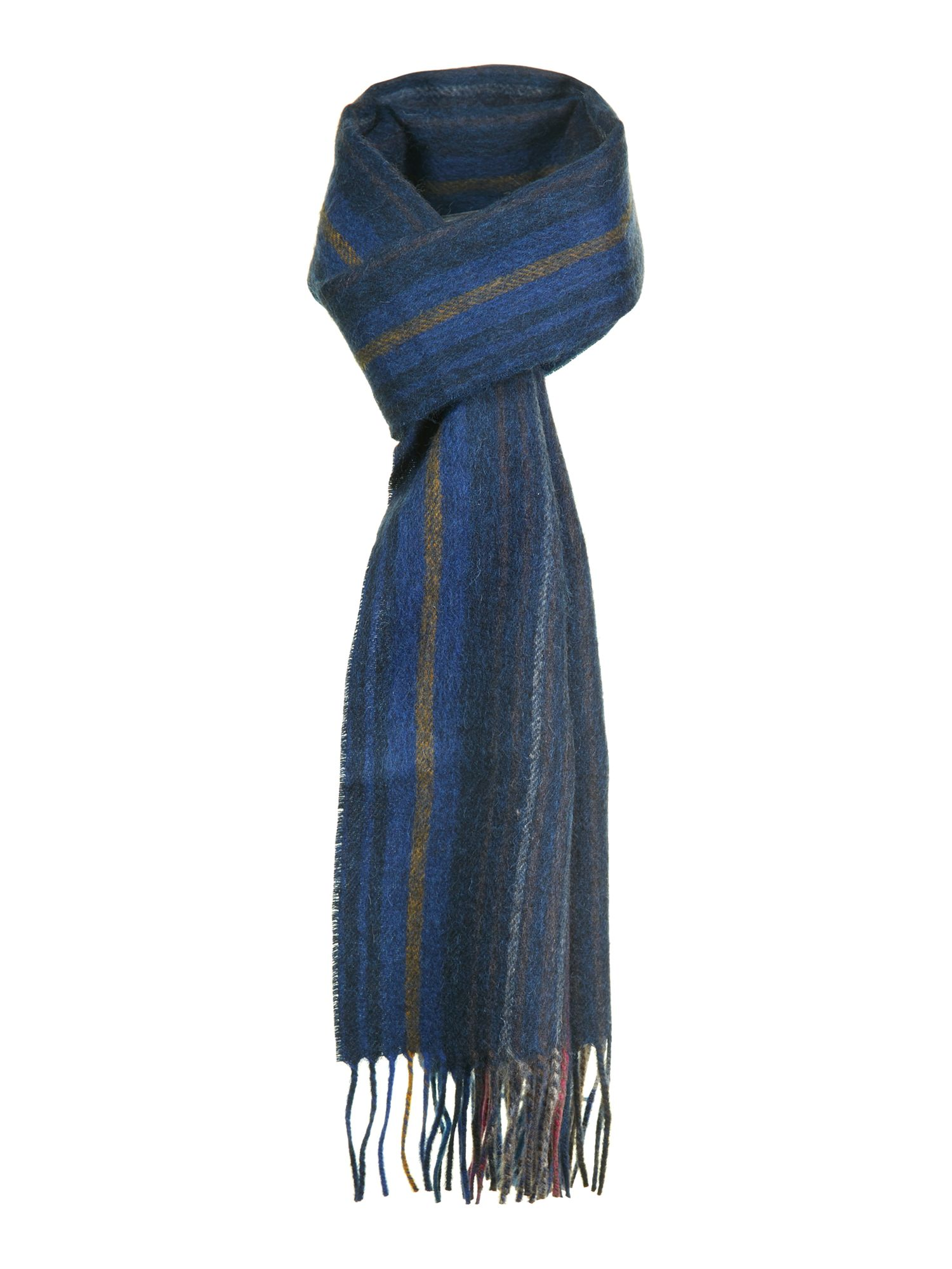 College wool stripe scarf
