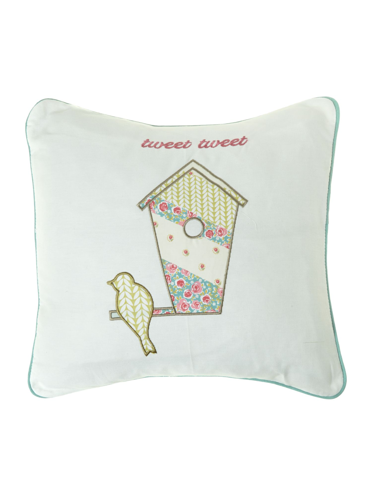 Tweet Duckegg cushion