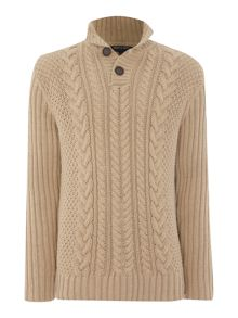 Trekker cable knit jumper