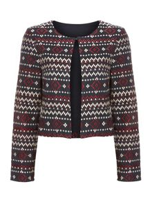 Embroidered print jacket