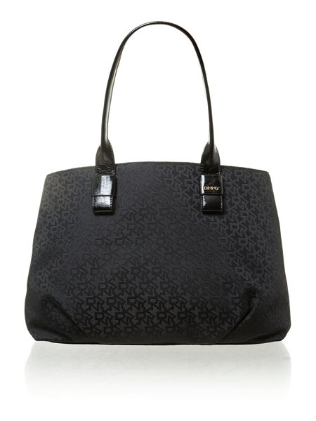 DKNY Jaquard black tote bag