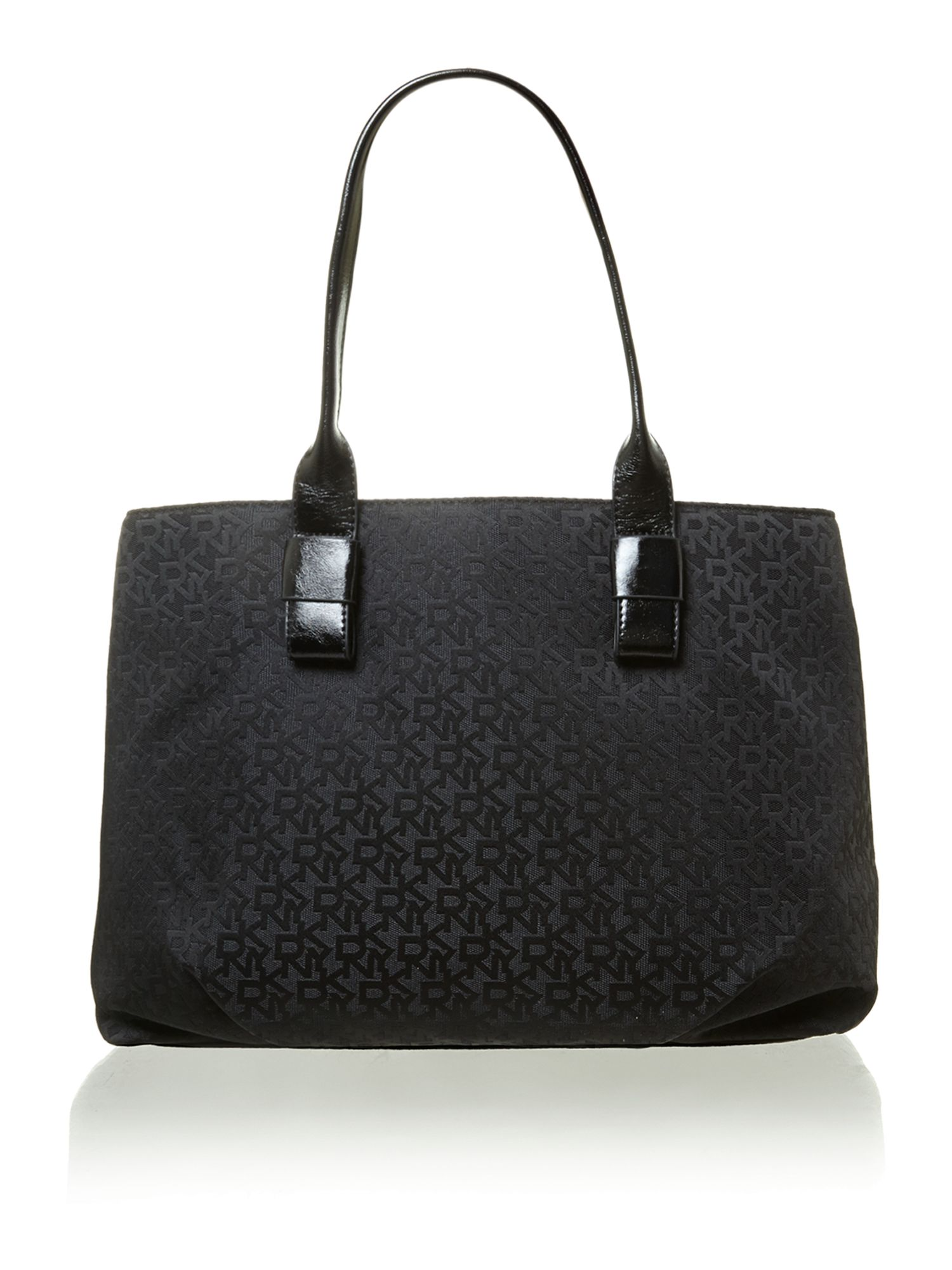 Jaquard black tote bag