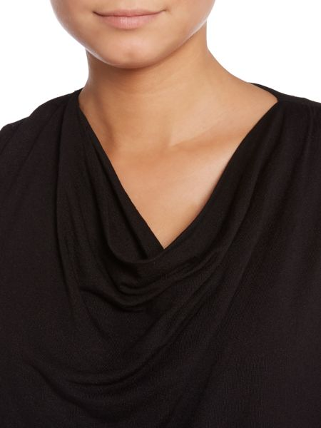 Wrap over cowl knit jumper
